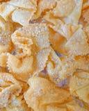 """""""diples παραδοσιακά ελληνικά γλυκά τηγανητά Χριστουγέννων με το μέλι και τα καρύδια στοκ φωτογραφίες"""