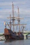 """El在圣奥斯丁""靠码头的Galeon,佛罗里达,美国 库存图片"