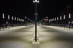 """""""Il nuovo boulevard recentemente costruito di Tirana """" fotografia stock libera da diritti"""