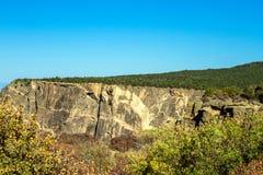 """""""La parete dipinta """"famosa in canyon nero del parco nazionale di Gunnison in Colorado fotografie stock libere da diritti"""