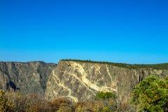 """""""La parete dipinta """"famosa in canyon nero del parco nazionale di Gunnison in Colorado immagine stock libera da diritti"""