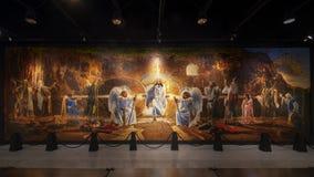 """""""La résurrection du Christ """"par Ron DiCianni, montrée dans le musée des arts bibliques à Dallas, le Texas image libre de droits"""