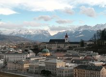 Fall in love with Salzburg royalty free stock photography