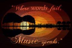 """""""Where words fail, music speaks."""" ― Hans Christian Anders stock photos"""