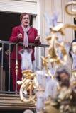 """""""Saetera"""" som sjunger till El Nazareno under processionen bra fredag Fotografering för Bildbyråer"""