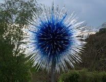 """""""Экспонат звезды сапфира """"воротами Виктория на выставке природе Лондона Великобритании садов Kew """"отражения на """"Chihuly стоковые фотографии rf"""