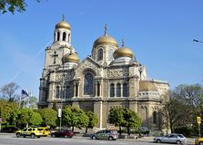 """ Holy Assumption ` is the largest church in Varna, Bulgaria. The picture was filmed in Varna, Bulgaria, 26.02.2018 year stock photos"