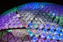 """""""Het toenemen Maan"""" lantaarn in Hong Kong Stock Foto"""