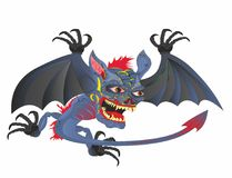 """""""Principal voado do â de Dia das Bruxas do demônio – 2 ilustração do vetor"""