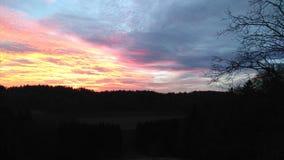 ‡ Del 🌠de la puesta del sol Imagen de archivo