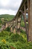 ‡ För eviÄ för ` för Ä-urÄ en Tara Bridge i nationalparken Durmitor i Montenegro Royaltyfria Foton