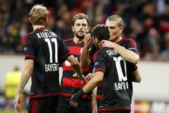 ‡ Ziel-Hakan à alhanoÄŸlu Bayer Leverkusen Stockbild