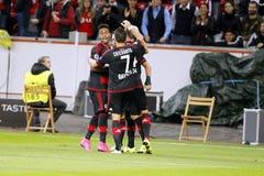 ‡ Ziel-Hakan à alhanoÄŸlu Bayer Leverkusen Stockfotos