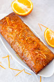 � Orange cake with poppy seeds, top view Royalty Free Stock Photo