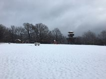 ‰ à gervölgy в зиме около ` gertetÅ ‰ à стоковое изображение