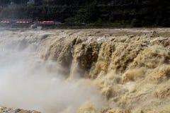 ‰ Espectacular 2 del ¼ del ˆï del ¼ del río Amarillo Hugo Waterfallï ilustración del vector