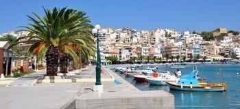 ‹Â€ ‹â€ города Sitia, Крита, Греции, Европы Стоковая Фотография