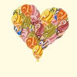‹Énorme d'†de ‹d'†de coeur des ballons à air colorés illustration de vecteur