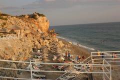 ‹и крутое снижение †‹â€ моря стоковая фотография