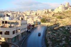 ‹Â€ ‹â€ города Вифлеема Палестина Ландшафты экзотической южной вегетации паркуют зоны и виды на город на солнечный, ясный день стоковые фото