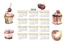 ‹AkeÑ ¡ Ð с календарем на 2018 Стоковое фото RF