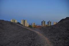 ‹Del †del ‹del †de la ciudad en el desierto Imagen de archivo libre de regalías