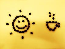 ‹Del background†del ‹del yellow†del ‹del on†del ‹del coffee†del ‹del sun†del ‹di Morning†fotografia stock