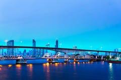 ‹Do river†da ponte de Banguecoque e céu azul imagens de stock