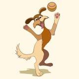 ‹E palla felici del †del ‹del †del cane illustrazione di stock