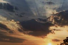 ‹För thailand†för ‹för at†för ‹för summer†för ‹för in†för Sunset†‹stråle, royaltyfri fotografi