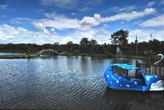 ‹Lumineux de sky†de ‹de blue†au-dessus du parc aquatique Images libres de droits