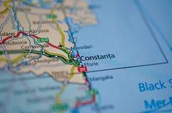 › A ConstanÈ на карте Стоковые Фото