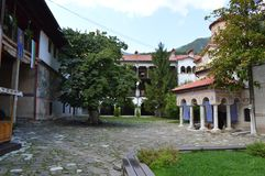 €œAssumption del monasterio de Bachkovo del  santo de Virgin†imagenes de archivo