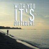 €œwith inspirador inspirado das citações você ele ` diferente do ` s Foto de Stock