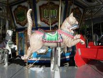 €˜Cat езды Carousel с Fish' стоковое фото rf