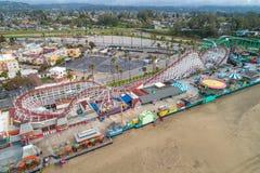 €™s de Santa Cruz Beach Boardwalkâ y el cazo gigante foto de archivo libre de regalías