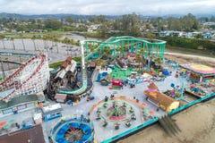€™s de Santa Cruz Beach Boardwalkâ y el cazo gigante imagen de archivo