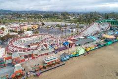 €™s de Santa Cruz Beach Boardwalkâ y el cazo gigante fotos de archivo libres de regalías