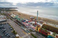 €™s de Santa Cruz Beach Boardwalkâ y el cazo gigante fotografía de archivo libre de regalías