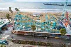 €™s de Santa Cruz Beach Boardwalkâ y el cazo gigante imágenes de archivo libres de regalías