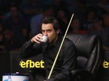 €™Sullivan Ronnie Oâ neemt aan snooker deel toont de Elf 30 Reeksen 2016 stock foto's