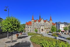 € «более низкая Силезия «здание Польши здание муниципалитета †Walbrzych «â€ историческое Стоковое Изображение