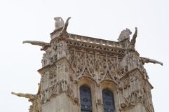 € «Париж Jacques Святого башни, Франция Стоковое Изображение RF