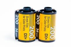 € «03 Женевы/Швейцарии 03 2019: фильм Kodak 35mm и выдержка fujicolor 36 fujifilm для сет стоковое фото rf