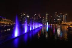 € «10-ое декабря 2017 Сингапура: Красивое lightshow на заливе Марины Стоковое фото RF