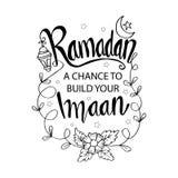 € Рамазан «шанс построить ваше Imaan иллюстрация штока