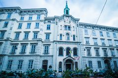 """€ """"†latern hermoso de Schönlaterngasse del callejón """"en Viena, Austria Imágenes de archivo libres de regalías"""