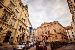"""€ """"†latern hermoso de Schönlaterngasse del callejón """"en Viena, Austria Fotos de archivo"""