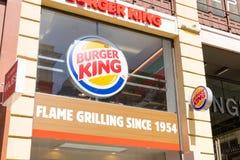 """€ """"03 de Madrid/de España 03 2019: Logotipo delantero de la tienda de alimentaci?n r?pida de Burger King imagenes de archivo"""