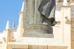 """€ """"03 do Madri/Espanha 03 2019: Estátua do papa Jean Paul II na Espanha do Madri imagens de stock royalty free"""